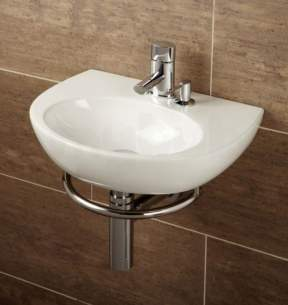 Flabeg Cabinets And Mirrors -  Malo Roccanova Cloakroom Wash Basin With Towel Rail And Soap Dispenser