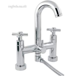 Deva Brassware -  Deva Expression Cd Deck Mtd Bath Shower Mixer