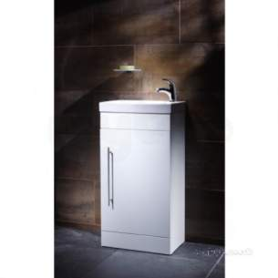 Roper Rhodes Furniture -  Esta Floor Cloakroom Vanity Unit White