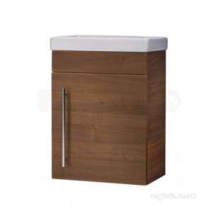 Roper Rhodes Furniture -  Esta Wallhung Cloakroom Vanity Unit Walnut