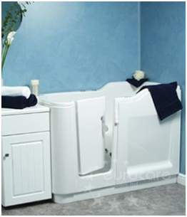 MyCare Less Able Bathing -  Easy Access Grande Walk In Lh Bath Tub White Inc Front Panel