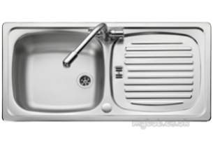 Rangemaster Sinks -  Euroline 1.0b 2th Ss Linen And Am1 T/c