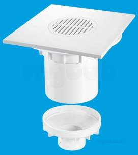 Mcalpine Waste traps overflow -  Mcalpine Tsg2t8wh Trapped Shower Gully Tile 200mm