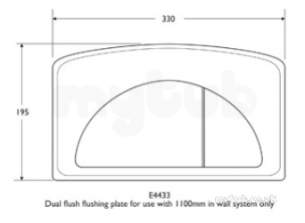 Ideal Standard Commercial Sanitaryware -  Ideal Standard E4433 Flush Plate For 1100 Frame Vl Limited Stock