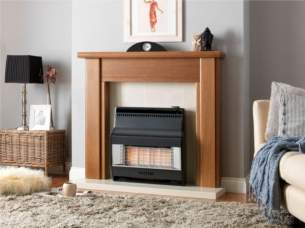 Valor Gas Fires and Wall Heaters -  Valor Firelite 4 Oxysafe Black 0534761