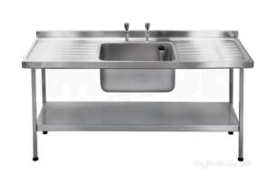 Sissons Stainless Steel Products -  E20614d 1800 X 650 Sbdd Catering Sink Ss