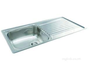 Carron Retail Sinks -  Contessa Kitchen Sink With Left Hand Large Single Bowl And Drainer