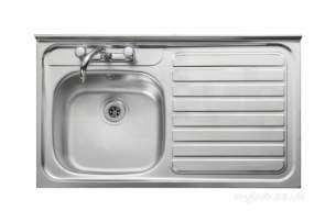 Rangemaster Sinks -  Contract Lc106r 1000 X 600 Rh Sq/front Ss