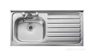 Rangemaster Sinks -  Contract Lc105r 1000 X 500 Rh Sq/front Ss