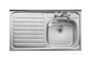 Rangemaster Sinks -  Contract Lc106l 1000 X 600 Lh Sq/front Ss