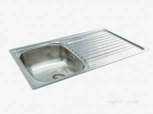 Carron Retail Sinks -  Contessa Kitchen Sink With Left Hand Single Bowl And Drainer