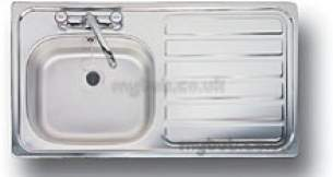 Center City 2 Kitchen Sinks -  Aga Rangemaster City 2 950x508 1.0b Right Hand 2 Tap Hole Inset Sink Stainless Steel