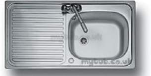Center City 2 Kitchen Sinks -  Aga Rangemaster City 2 950x508 1.0b 1 Tap Hole Revolution Inset Sink Stainless Steel