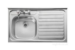 Center City 2 Kitchen Sinks -  City 2 1000 X 600 Right Hand R/fr Sit-on Sink Ss