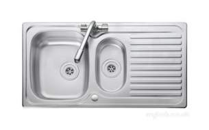 Rangemaster Sinks -  Aga Rangemaster Linear Lr9502r/tc-wm 1.5 Bowl Right Hand And Tap Stainless Steel