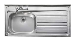 Rangemaster Sinks -  Contract Lc126l 1200 X 600 Lh Sq/front Ss