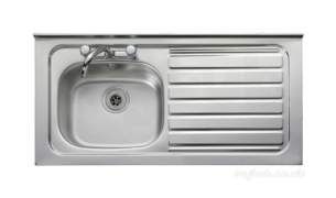 Rangemaster Sinks -  Contract Lc42r 1067x533 Rh Sq/front Ss