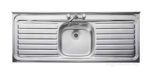 Rangemaster Sinks -  Contract Lc156 1500 X 600 Sbdd Sq/front Ss