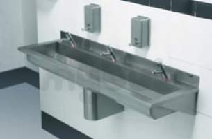 Sissons Stainless Steel Products -  Saracen 1500mm 3th Wash Trough Ss
