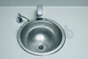 Sissons Stainless Steel Products -  Saracen 280mm Inset Hand W/basin Ss
