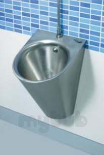 Sissons Stainless Steel Products -  Saracen Wall Mounted Pod Urinal Ss