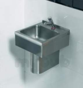 Sissons Stainless Steel Products -  Saracen Wall Hung Wash Basin Cth Ss