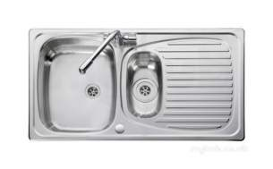 Rangemaster Sinks -  Leisure El950nc/tcad2-an 1.5 Bowl Sink And Tap Anodised Profile