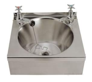 Sissons Stainless Steel Products -  D20162n 385x330mm Wall Basin And Supprt Ss