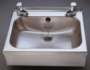 Sissons Stainless Steel Products -  D20163n 457x357mm Wall Basin And Supprt Ss