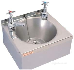Sissons Stainless Steel Products -  D20161n 305x270mm Wall Basin And Supprt Ss