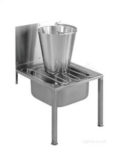 Sissons Stainless Steel Sinks -  G21663n 500 X 520 Bucket Sink Plus S/back Ss