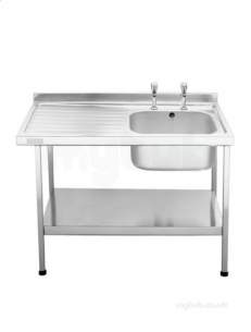 Sissons Stainless Steel Sinks -  E20601l 1000 X 600 Lh Sb Catering Sink Ss