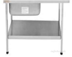 Sissons Stainless Steel Products -  K20671n 1200 X 600mm Stand And Shelf Ss
