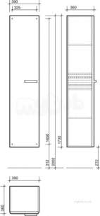 Twyford Galerie Plan Furniture -  Galerie Tall Cabinet Lh/rh Red Gl0700rd