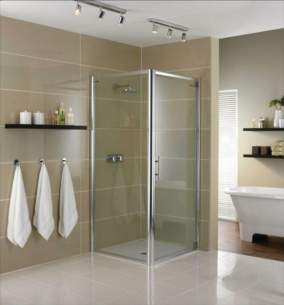 Showerlux Glide Enclosures -  Showerlux Glide Pivot Door 1000 Slv/clr
