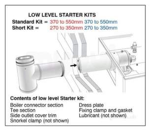 Grant Uk Oil Boilers -  External High Level Vertical Short Starter Flue Kit 26-70 Kw