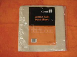 Cleaning Brushes and Asbestos Pads -  12 X 9 Cotton Twill Dust Sheet Dd Dust Sheet