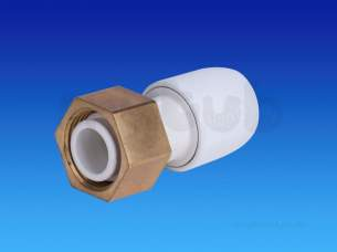 Hep2O Underfloor Heating Pipe and Fittings -  Hep2o Hd25 Straight Tap Connector 22x3/4