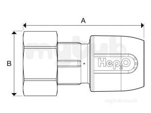 Hep2o Hd25 Straight Tap Connector 15x3/4