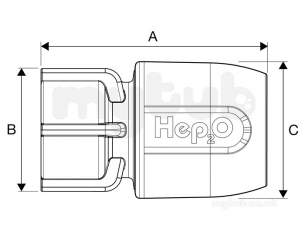 Hep2O Underfloor Heating Pipe and Fittings -  Hep2o Hd26 Hand Titan Tap Conn 15x1/2