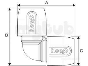 Hep2O Underfloor Heating Pipe and Fittings -  Hep2o Hd5 90d Elbow 22 Hd5/22w