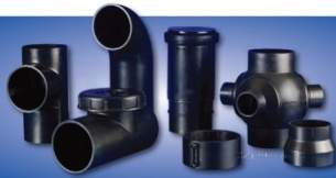 Polypipe Terrain Hdpe -  Hdpe 45deg Bend With Socket Branch 90/40
