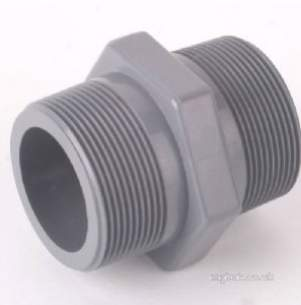 Durapipe Abs Fittings 1 14 and Above -  Dp Abs Hexagon Nipples Bsp 106106 1.1/2