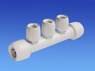 Hep2O Underfloor Heating Pipe and Fittings -  Hepworth 3 Port Manifold22x15mm Skt/skt