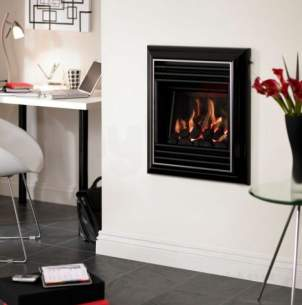 Valor Gas Fires and Wall Heaters -  Valor Homeflame Harmony Ng He Fire Black