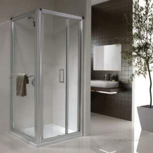 Twyford Geo6 and Hydr8 Enclosures -  Hydr8 Infold Shower Door 800mm H84900cp