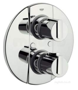 Grohe Shower Valves -  Grohtherm 2000 Thermostatic Bath Mixer With Temperature Scale Handle