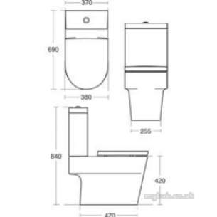 Ideal Standard Sottini Ware -  Ideal Standard Lagaro Cistern Bsio White 6l Dfv