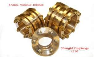 Lamontite Compression Fittings -  Lamontite L130 76mm Str Coupling