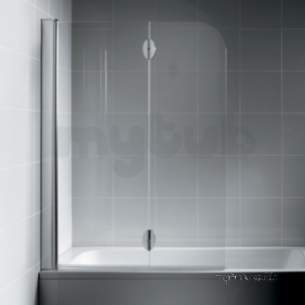 Bliss Shower Enclosures -  Armitage Shanks Bliss L9198 Right Hand Hngd Bathscreen Clr/p Slv